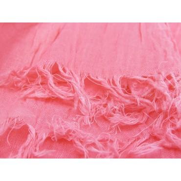 Dettaglio - Sciarpe primaverili estive - sciarpa pareo di cotone rosa fragola
