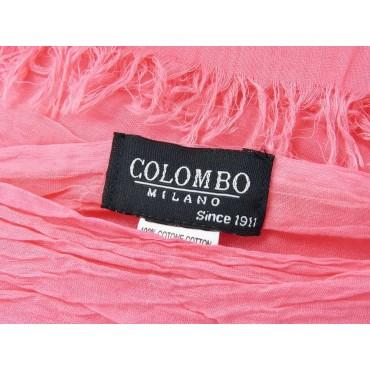 Etichetta - Sciarpe primaverili estive - sciarpa pareo di cotone rosa fragola