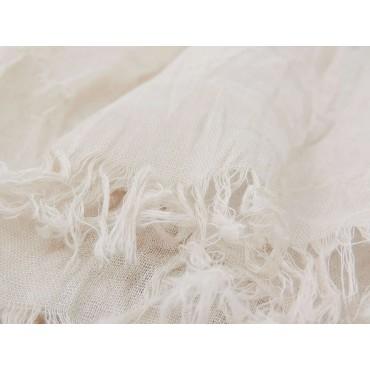 Dettaglio - Sciarpe primaverili estive - sciarpa pareo di cotone beige