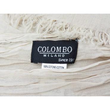 Etichetta - Sciarpe primaverili estive - sciarpa pareo di cotone beige