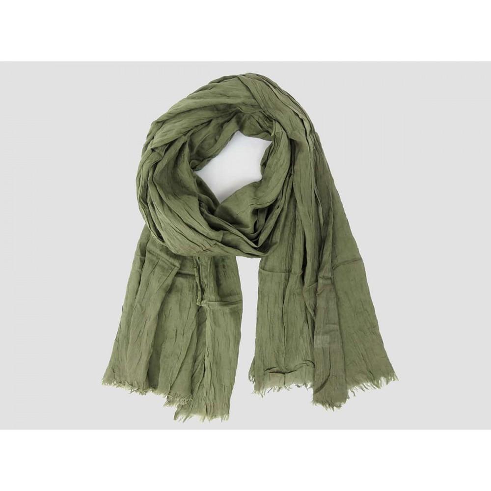 Modello - Sciarpe primaverili estive - sciarpa pareo di cotone verde militare