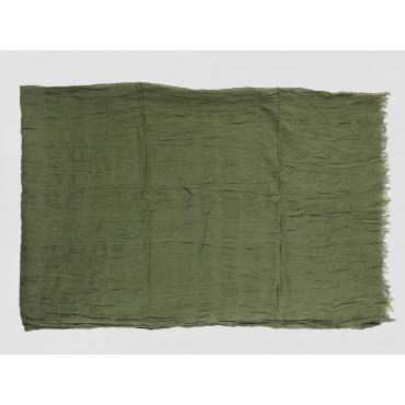 Piegata - Sciarpe primaverili estive - sciarpa pareo di cotone verde militare