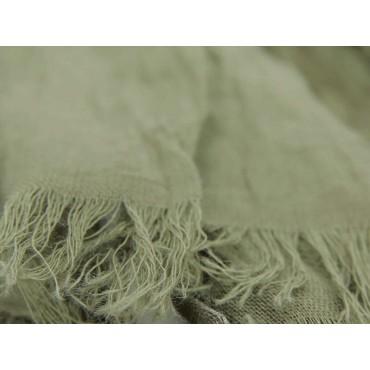 Dettaglio - Sciarpe primaverili estive - sciarpa pareo di cotone verde militare