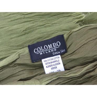Etichetta - Sciarpe primaverili estive - sciarpa pareo di cotone verde militare