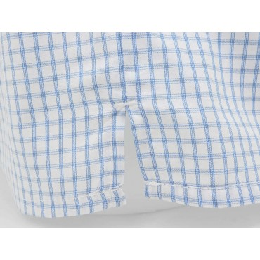 Slit detail - Kent - Men's boxer shorts in light blue cotton
