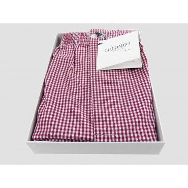 Open box - Kent - Men's boxer in red checkered cotton