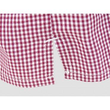Dettaglio spacco - Kent - Boxer da uomo in cotone a quadretti rossi
