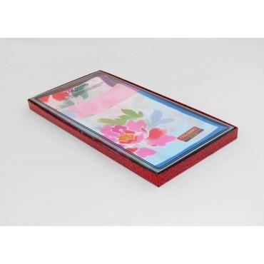 Side box - Giulia - women's handkerchiefs with peony print