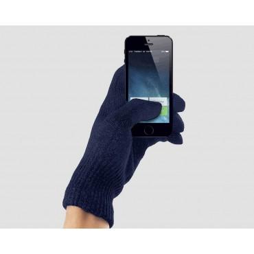 Blu - guanti magici unisex - guanti elasticizzati touchscreen tinta unita