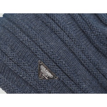 Double ribbed men's hat - detail