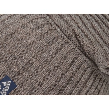 Dettaglio - berretto uomo - cappello morbido con lavorazione a coppie di coste orizzontali