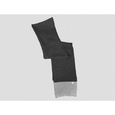 Antracite/grigio - sciarpa uomo - sciarpa tricot bicolore