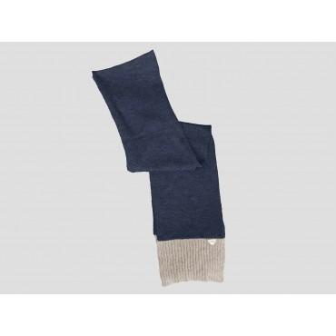 Blu/beige - sciarpa uomo - sciarpa tricot bicolore