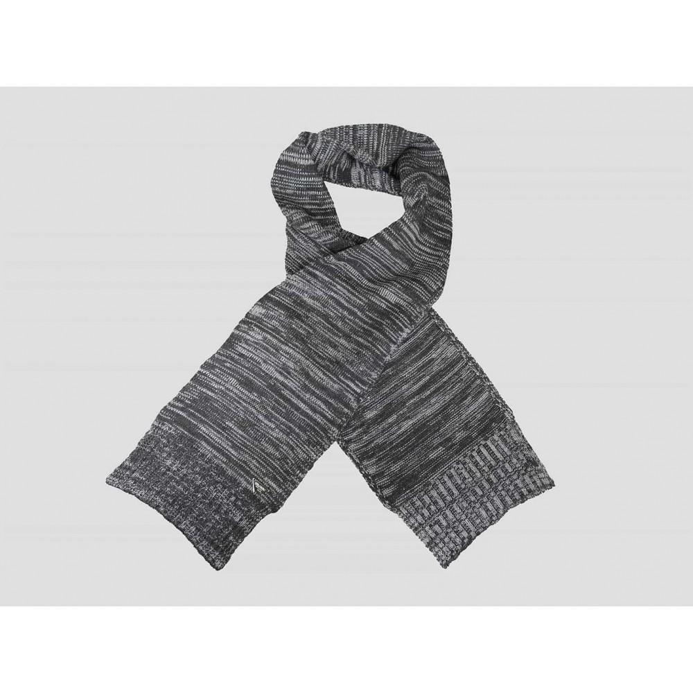 Grigia - sciarpa uomo - sciarpa tricot bicolore con lavorazione a filato ritorto