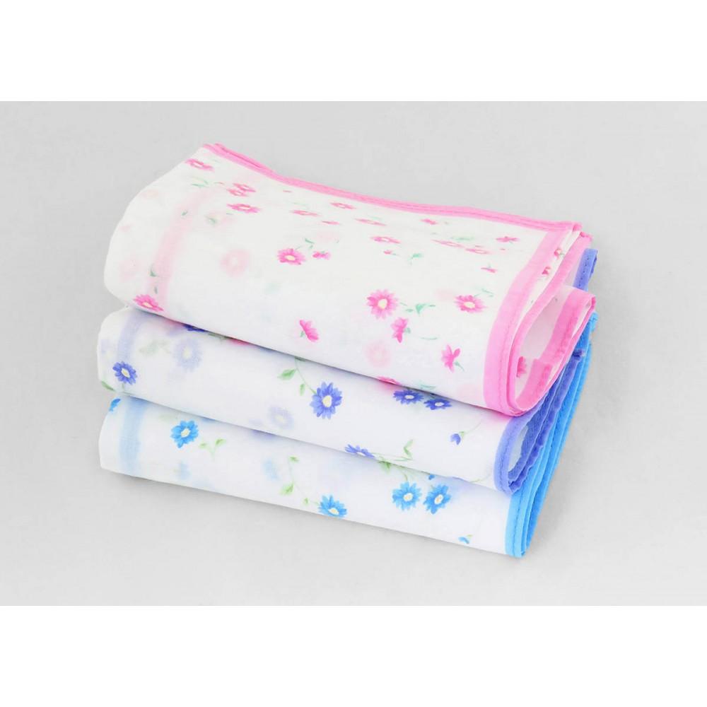 Varianti - Grazia - fazzoletti di cotone da donna con stampa di margherite colorate