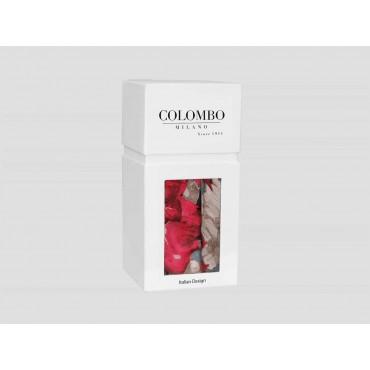 Confezione  - sciarpa leggera - pashmina donna con stampe di rose su fondo nero in scatola regalo