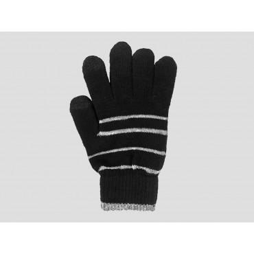Nero/argento - guanti donna magici - guanti elasticizzati touchscreen con lurex