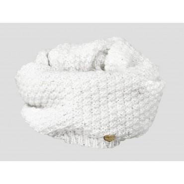 Panna - sciarpa donna - sciarpa ad anello tricot con paillettes