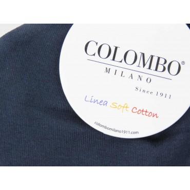 Dettaglio - cappello bimbo - berretto blu di cotone elasticizzato