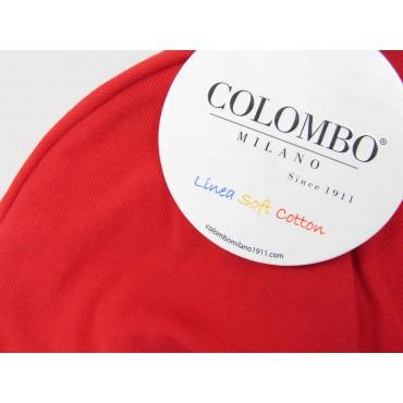Dettaglio - cappello bimbo  - berretto rosso di cotone elasticizzato