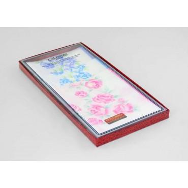 Scatola laterale - Grazia - fazzoletti di cotone da donna con stampa di rose pastello