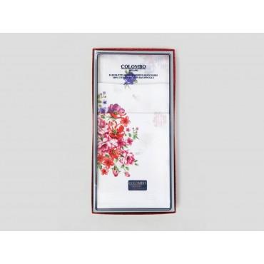 Victoria - white handkerchiefs with bouquet flowers front box