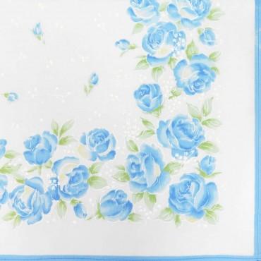 Variante cielo - Grazia - fazzoletti di cotone da donna con stampa di rose pastello