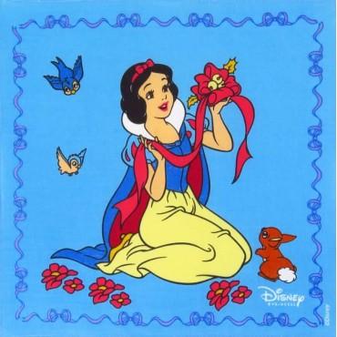 Fazzoletto blu - Biancaneve - fazzoletto di cotone Disney