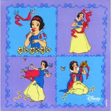 Fazzoletto viola - Biancaneve - fazzoletto di cotone Disney