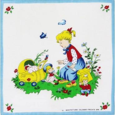 Fiabe - fazzoletto di cotone per bimbi con personaggi delle fiabe
