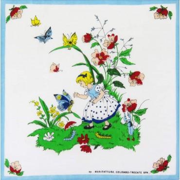 Farfalla - fazzoletto di cotone per bimbi con personaggi delle fiabe