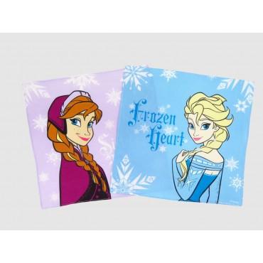 Varianti Anna e Elsa- Frozen - fazzoletti di cotone Disney con fiocchi di neve
