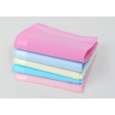 Varianti - Perla - fazzoletti di cotone tinta unita color pastello con ampie righe di raso