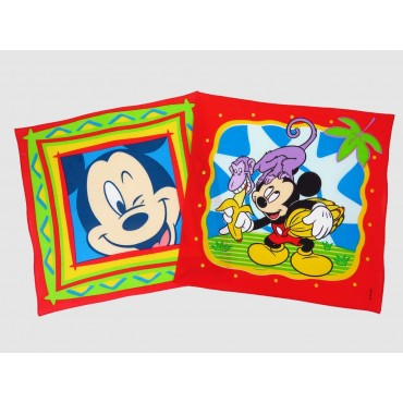 Topolino - fazzoletti di cotone rossi Disney