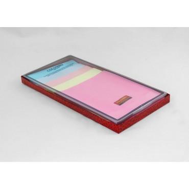 Scatola laterale - Perla - fazzoletti di cotone tinta unita color pastello con righe di raso