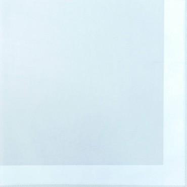 Variante celeste - Perla - fazzoletto di cotone tinta unita color pastello con righe di raso