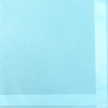Turquoise colorway - Colored Perla - solid color handkerchiefs with satin stripes