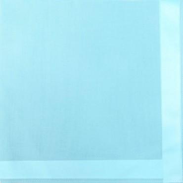 Variante turchese - Perla - fazzoletti di cotone tinta unita color pastello con righe di raso