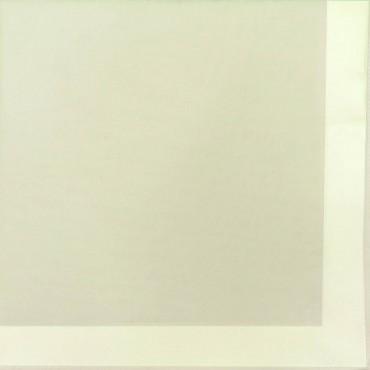 Variante gialla  - Perla - fazzoletto di cotone tinta unita color pastello con righe di raso
