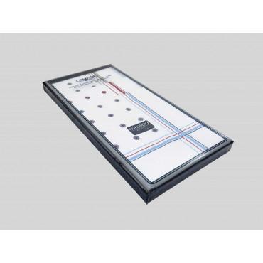 Scatola laterale - Zaffiro - fazzoletti di cotone da uomo stampati con motivi geometrici e righe in tre diversi colori