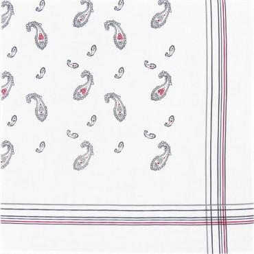 Variante grigia - Zaffiro - fazzoletto di cotone da uomo stampato con motivi cachemire