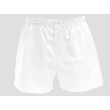 Model - Kent - White cotton men's boxers