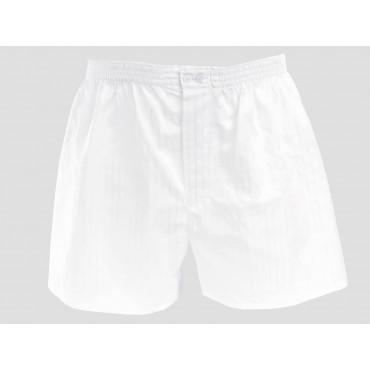 Model - Kent - White cotton men's boxers