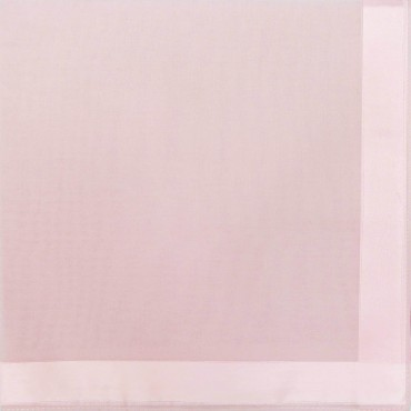 Pink colorway - Colored Perla - solid color handkerchiefs with satin stripes