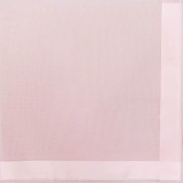 Variante rosa - Perla - fazzoletti di cotone tinta unita color pastello con righe di raso