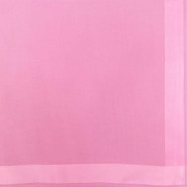 Variante fucsia - Perla - fazzoletto di cotone tinta unita color pastello con righe di raso