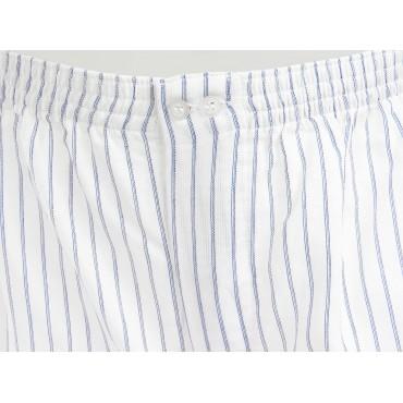 Kent detail - Men's blue and light blue striped boxer shorts in cotton