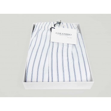 Open box Kent - Boxer shorts for men in blue and light blue striped plus size