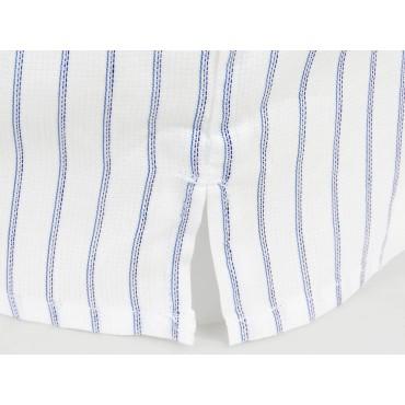 Spacco Kent - Boxer da uomo a righe blu e azzurre in cotone taglie forti