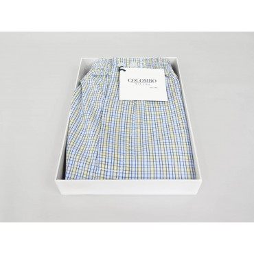 Open box Kent - Men's boxer shorts in cotton with blue and yellow small sizes